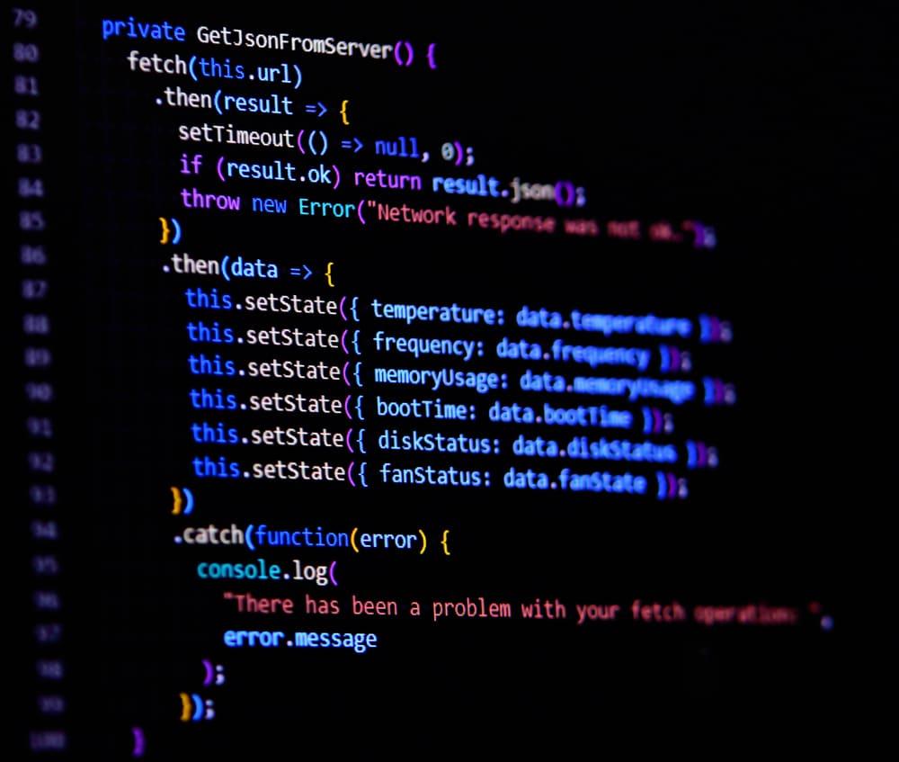 Modern,Javascript,,Typescript,,Ecma,Script,Code,With,React,Framework.,Async